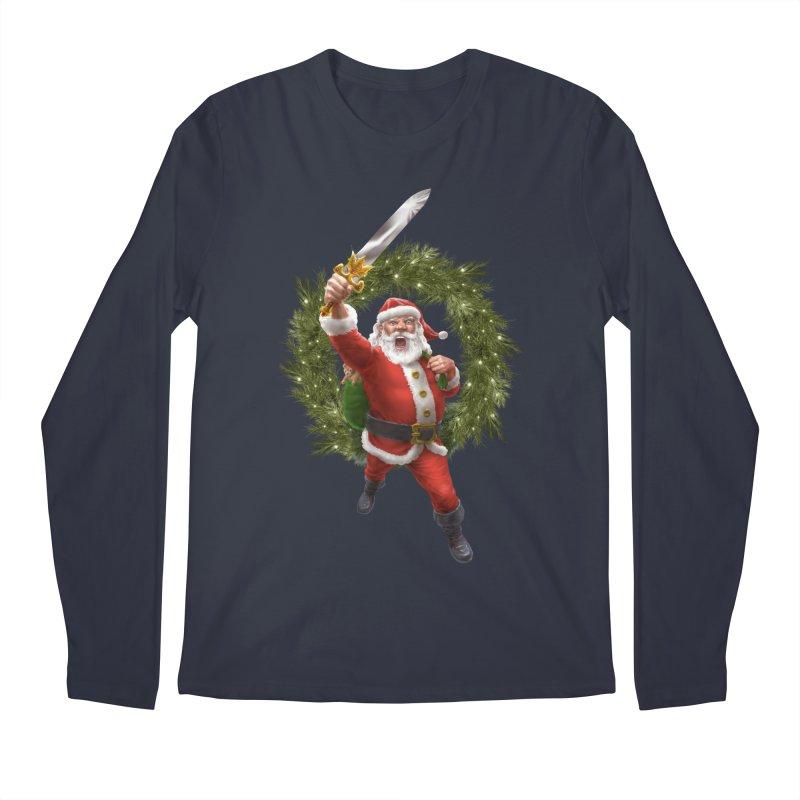 Santa Sleigher (or Santa The Barbarian) Men's Regular Longsleeve T-Shirt by Ayota Illustration Shop
