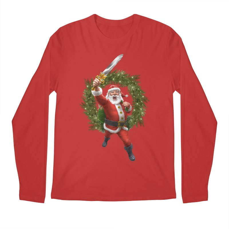 Santa Sleigher (or Santa The Barbarian) Men's Regular Longsleeve T-Shirt by Ayota Illustration Shop