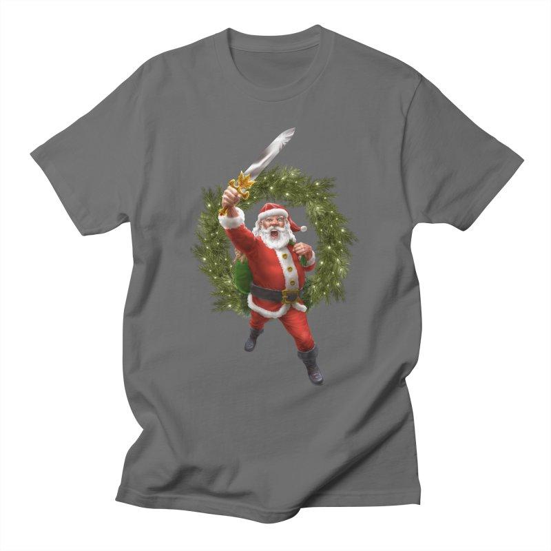 Santa Sleigher (or Santa The Barbarian) Men's T-Shirt by Ayota Illustration Shop