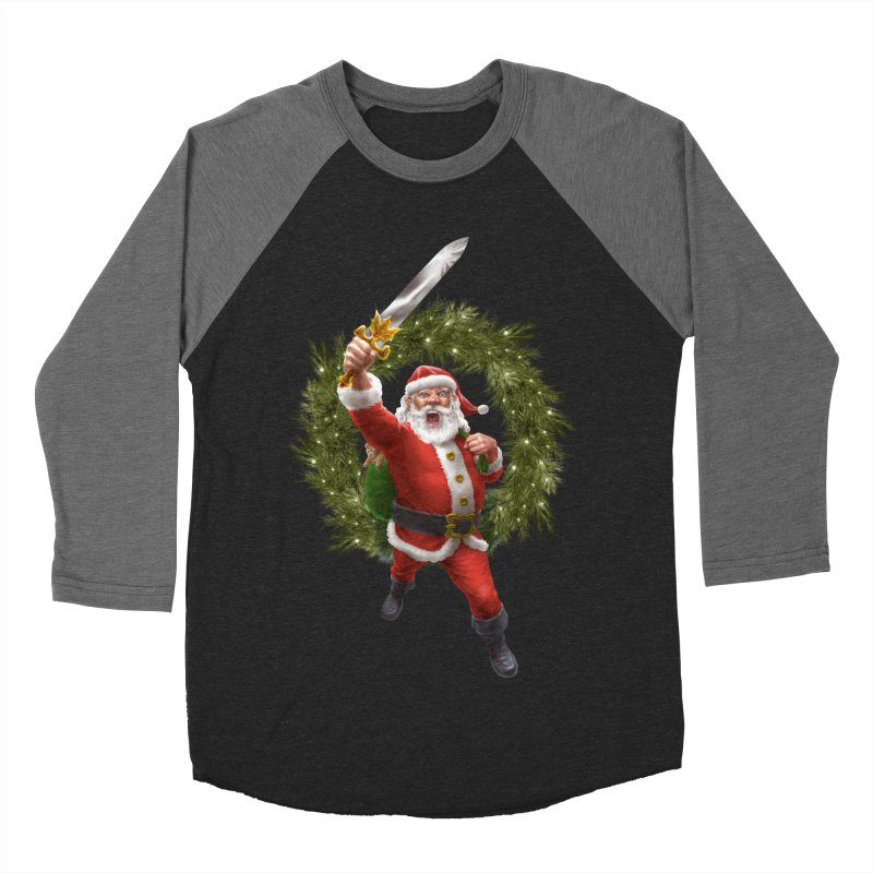 Santa Sleigher (or Santa The Barbarian) Women's Baseball Triblend Longsleeve T-Shirt by Ayota Illustration Shop
