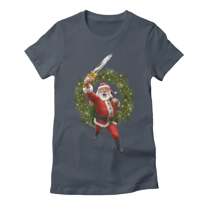 Santa Sleigher (or Santa The Barbarian) Women's T-Shirt by Ayota Illustration Shop