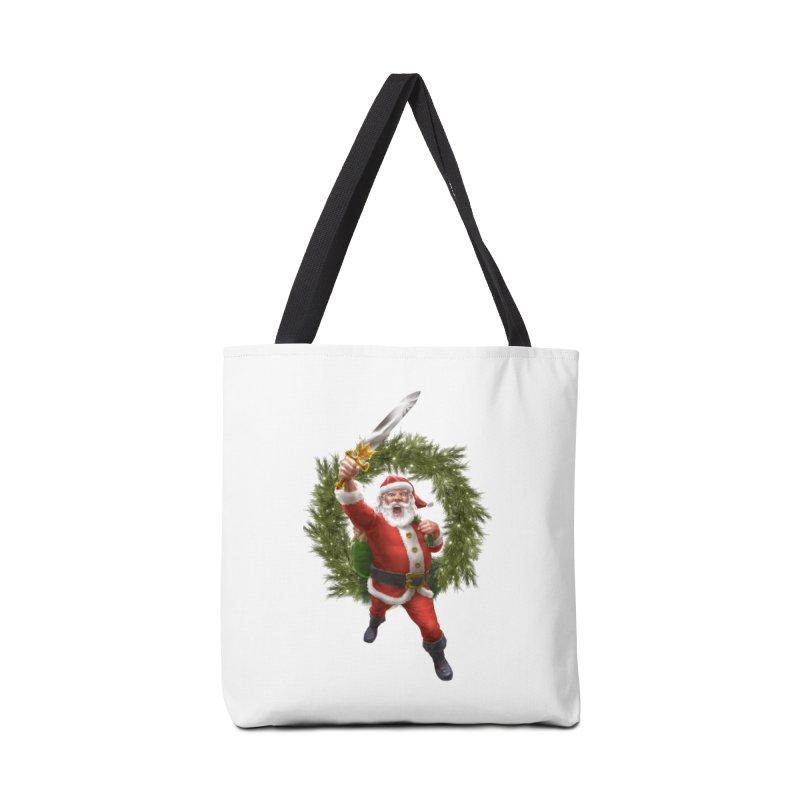 Santa Sleigher (or Santa The Barbarian) Accessories Tote Bag Bag by Ayota Illustration Shop