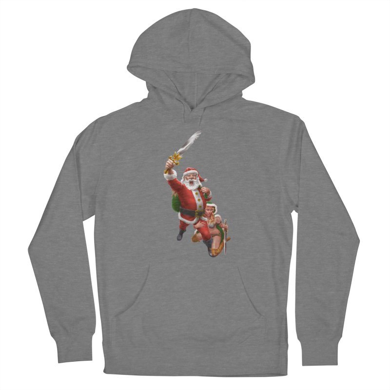 Santa and Mrs Claus  Women's Pullover Hoody by Ayota Illustration Shop