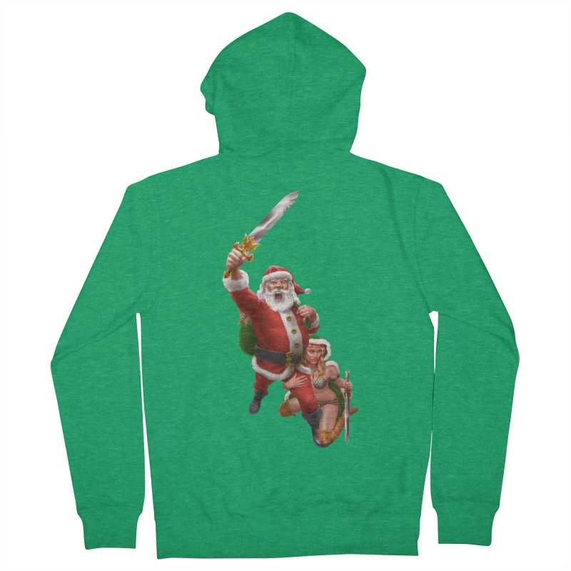Santa and Mrs Claus  Women's Zip-Up Hoody by Ayota Illustration Shop