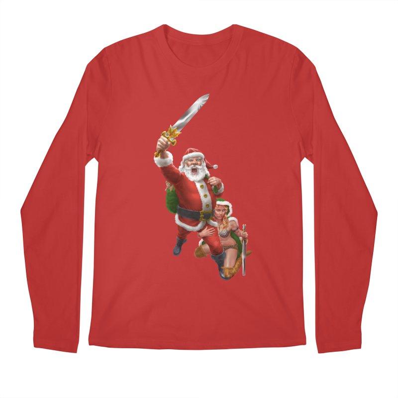 Santa and Mrs Claus  Men's Regular Longsleeve T-Shirt by Ayota Illustration Shop
