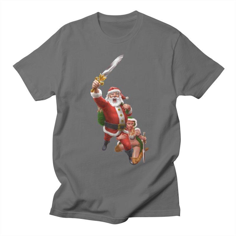 Santa and Mrs Claus  Men's T-Shirt by Ayota Illustration Shop