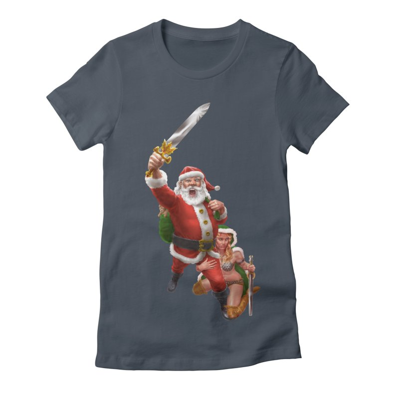 Santa and Mrs Claus  Women's T-Shirt by Ayota Illustration Shop