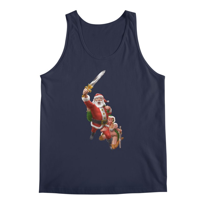 Santa and Mrs Claus  Men's Regular Tank by Ayota Illustration Shop
