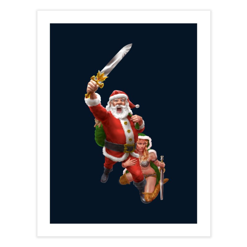 Santa and Mrs Claus  Home Fine Art Print by Ayota Illustration Shop