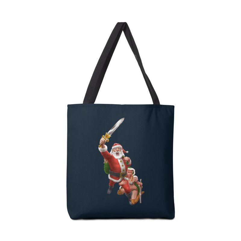 Santa and Mrs Claus  Accessories Tote Bag Bag by Ayota Illustration Shop