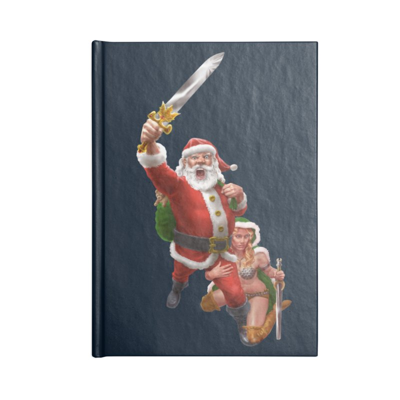 Santa and Mrs Claus  Accessories Blank Journal Notebook by Ayota Illustration Shop