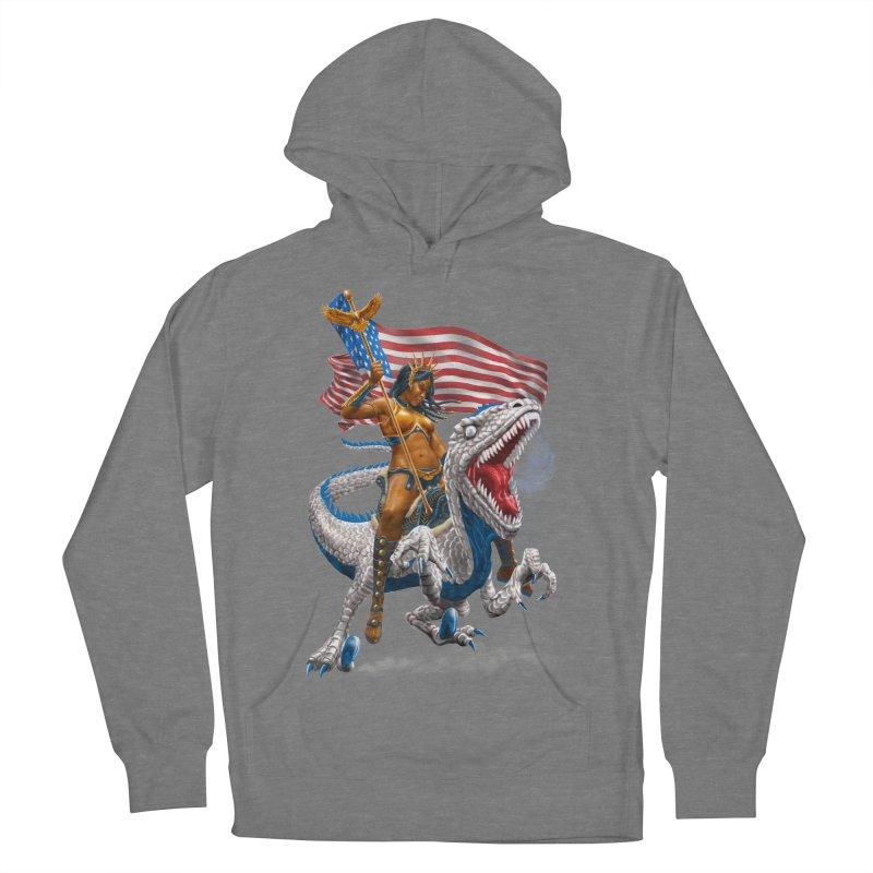 Liberty Patriosaur Men's Pullover Hoody by Ayota Illustration Shop