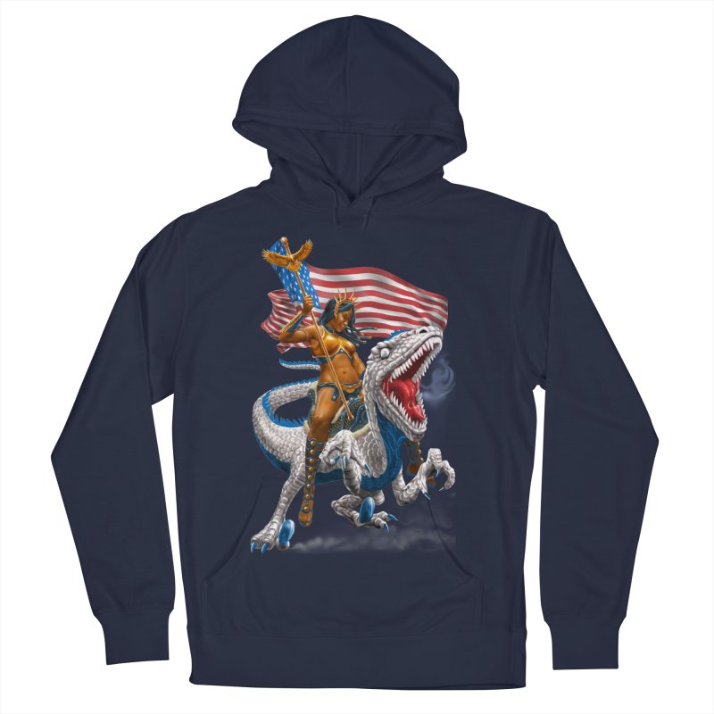 Liberty Patriosaur Men's Pullover Hoody by Ayota Illustration Shop