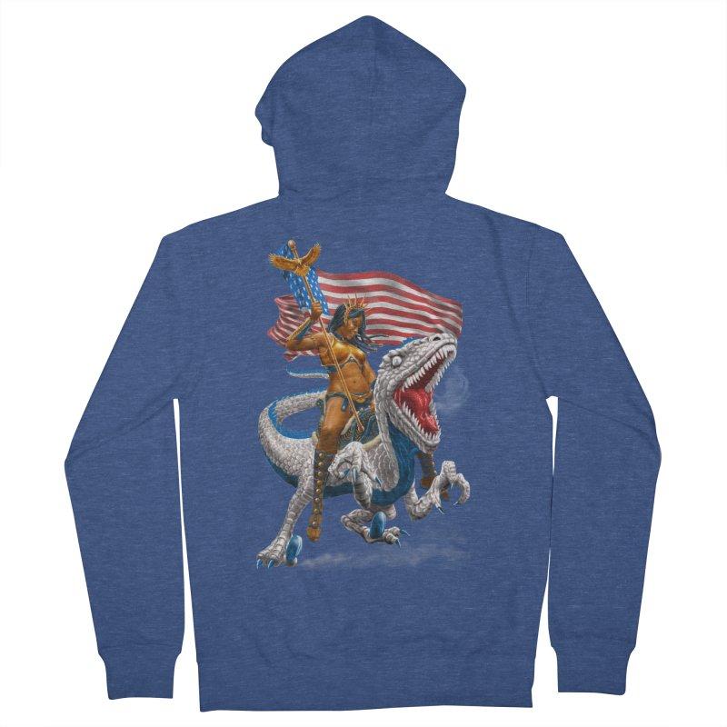 Liberty Patriosaur Men's Zip-Up Hoody by Ayota Illustration Shop