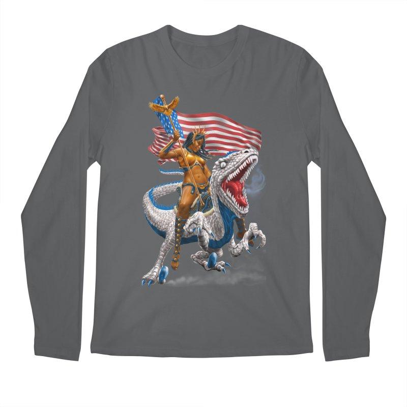 Liberty Patriosaur Men's Longsleeve T-Shirt by Ayota Illustration Shop