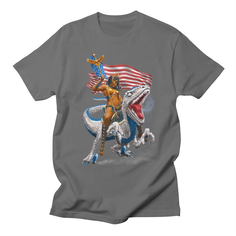 Liberty Patriosaur Men's T-Shirt by Ayota Illustration Shop