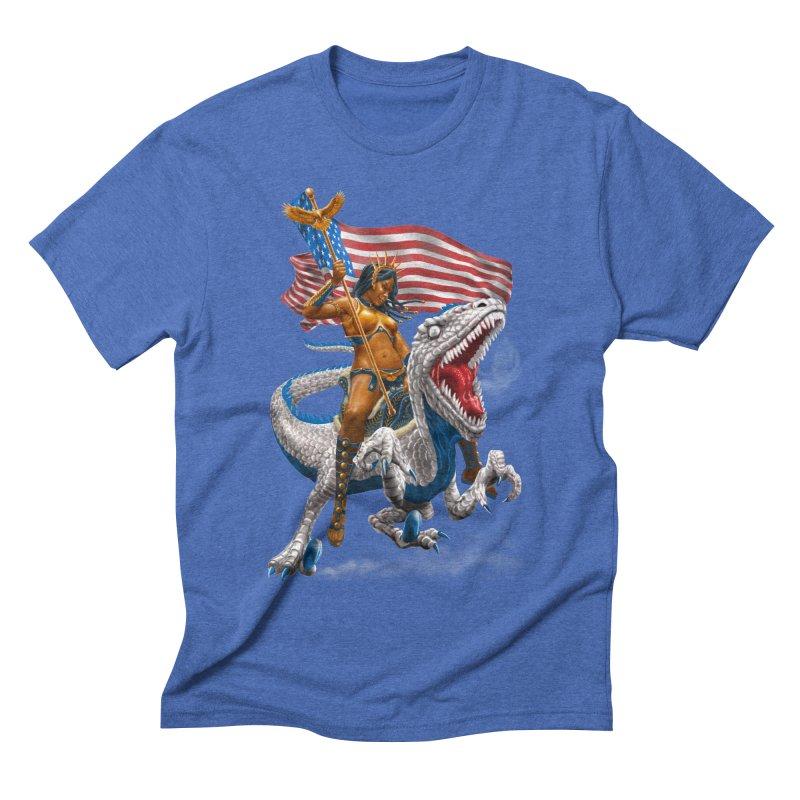 Liberty Patriosaur Men's T-Shirt by Ayota Illustration Shop