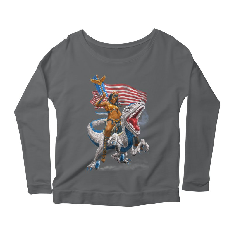 Liberty Patriosaur Women's Longsleeve T-Shirt by Ayota Illustration Shop