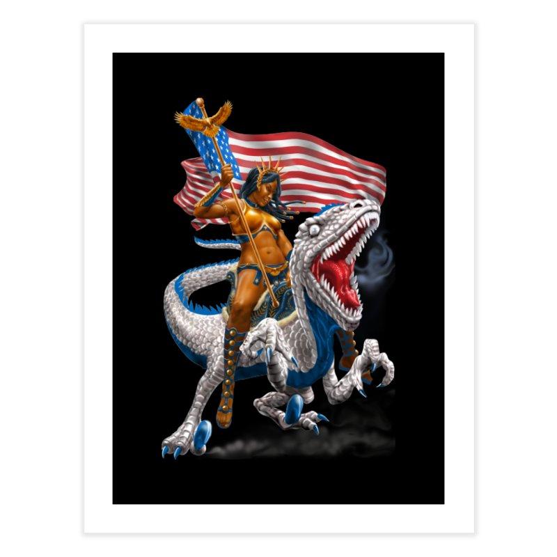 Liberty Patriosaur Home Fine Art Print by Ayota Illustration Shop