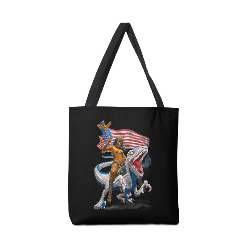 Liberty Patriosaur Accessories Tote Bag Bag by Ayota Illustration Shop