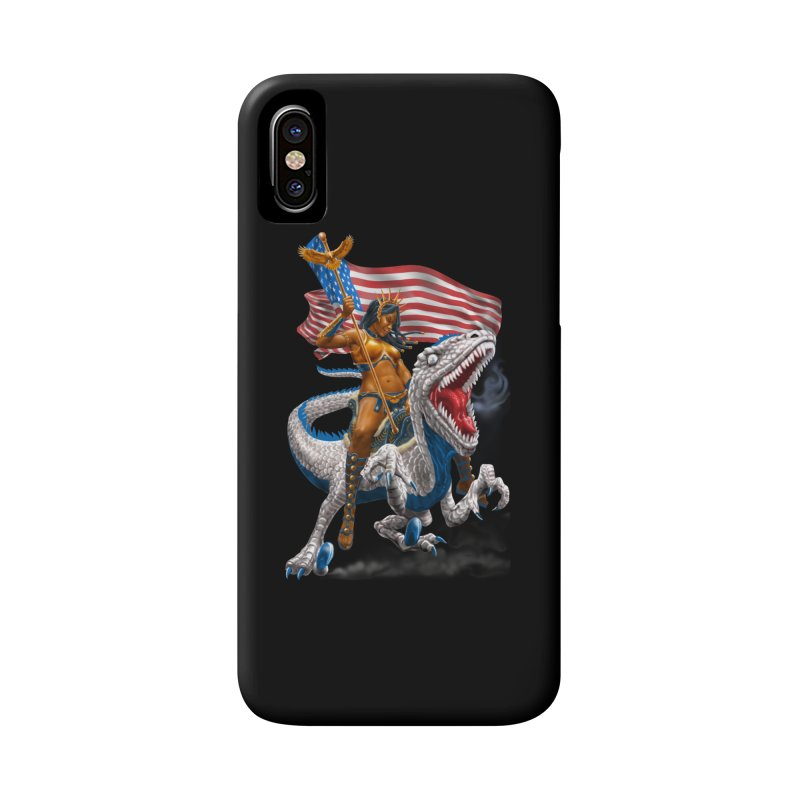 Liberty Patriosaur Accessories Phone Case by Ayota Illustration Shop