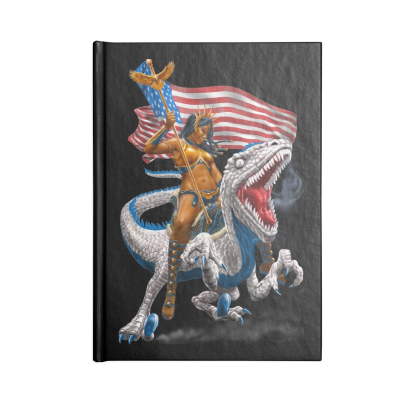 Liberty Patriosaur Accessories Blank Journal Notebook by Ayota Illustration Shop