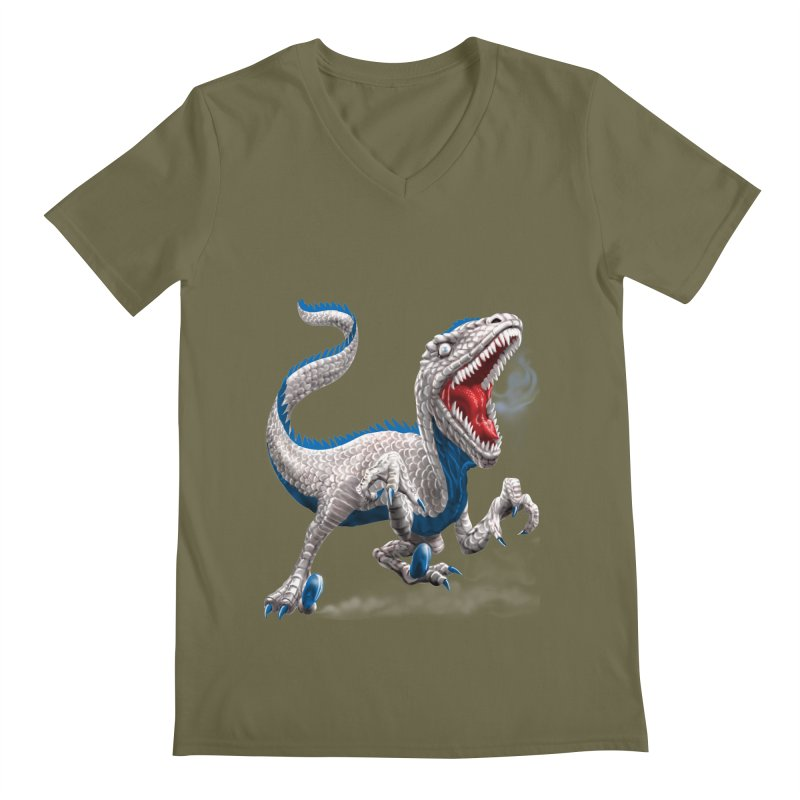 Patriosaur Men's V-Neck by Ayota Illustration Shop