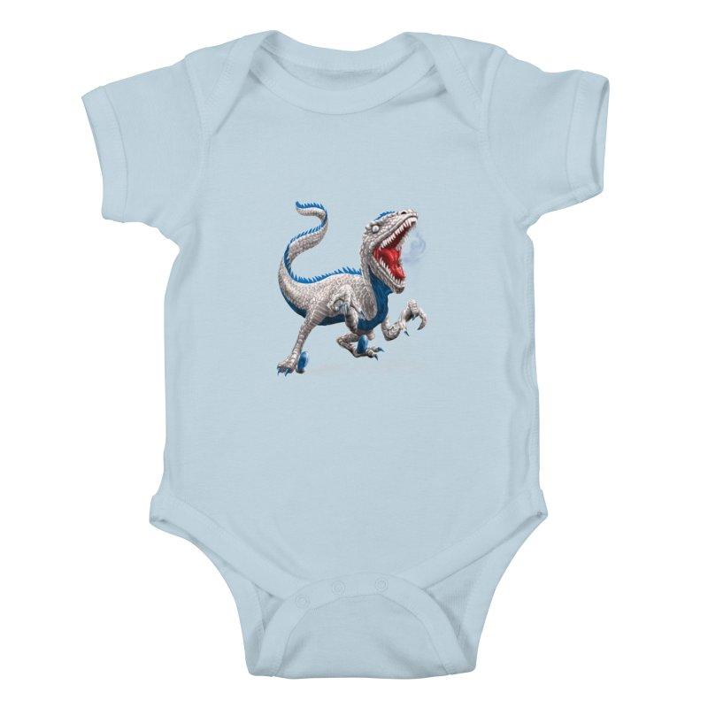 Patriosaur Kids Baby Bodysuit by Ayota Illustration Shop