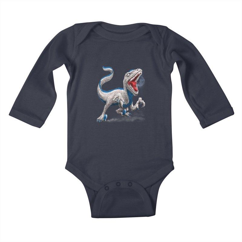 Patriosaur Kids Baby Longsleeve Bodysuit by Ayota Illustration Shop