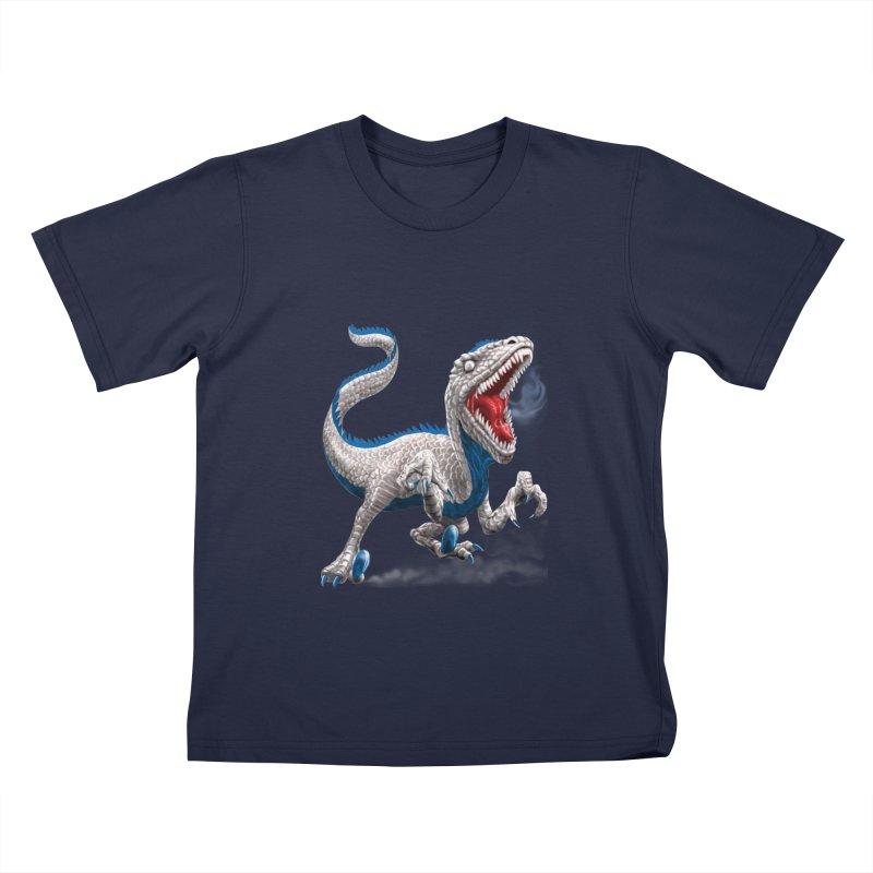 Patriosaur Kids T-Shirt by Ayota Illustration Shop