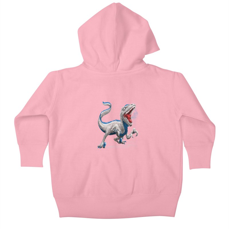 Patriosaur Kids Baby Zip-Up Hoody by Ayota Illustration Shop