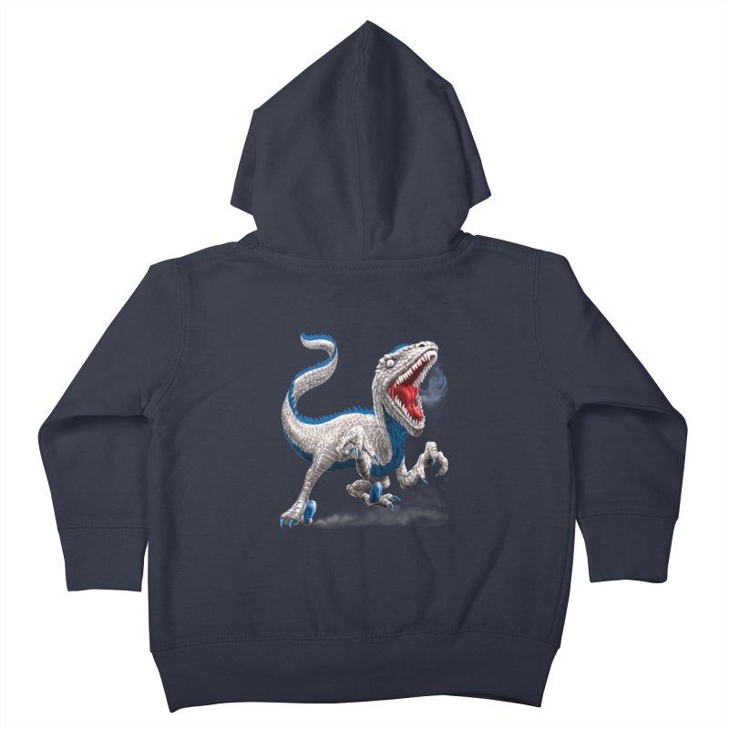 Patriosaur Kids Toddler Zip-Up Hoody by Ayota Illustration Shop