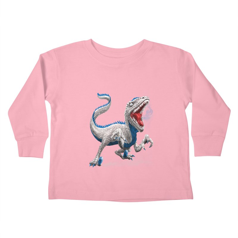 Patriosaur Kids Toddler Longsleeve T-Shirt by Ayota Illustration Shop