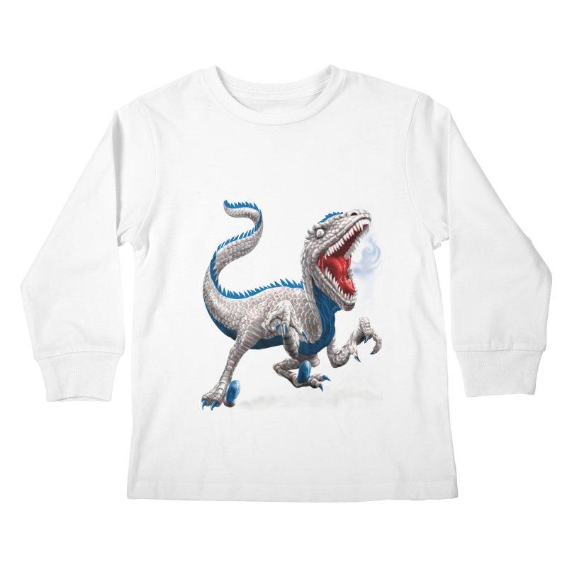 Patriosaur Kids Longsleeve T-Shirt by Ayota Illustration Shop