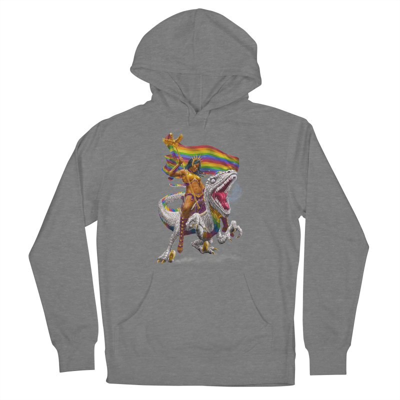 Liberty Rainbow Raptor Women's Pullover Hoody by Ayota Illustration Shop