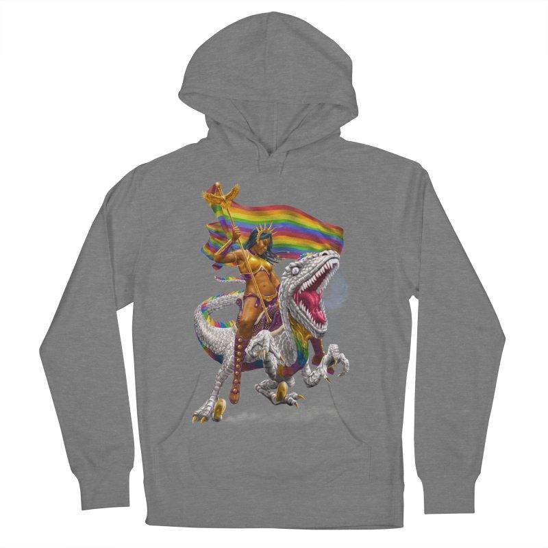 Liberty Rainbow Raptor Women's Pullover Hoody by Ayota Illustration Shop