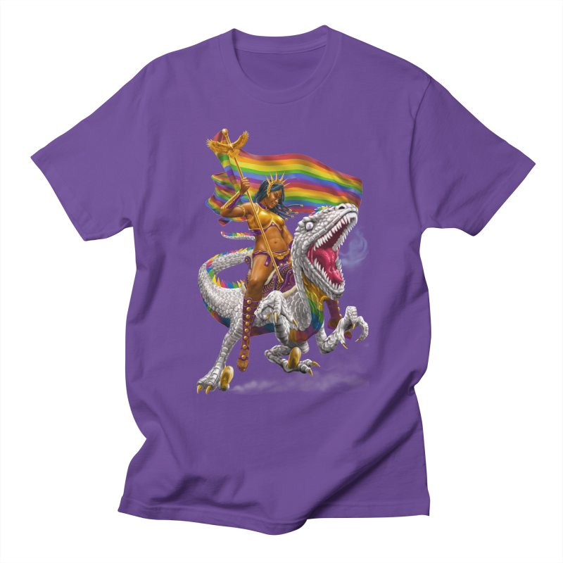 Liberty Rainbow Raptor Women's Unisex T-Shirt by Ayota Illustration Shop