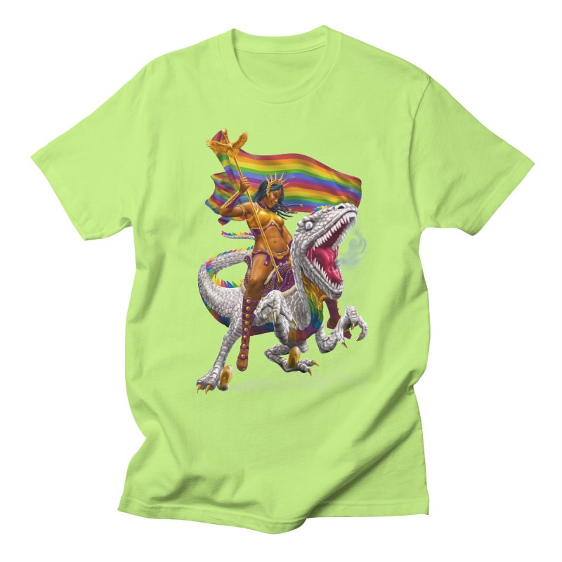 Liberty Rainbow Raptor Men's T-Shirt by Ayota Illustration Shop