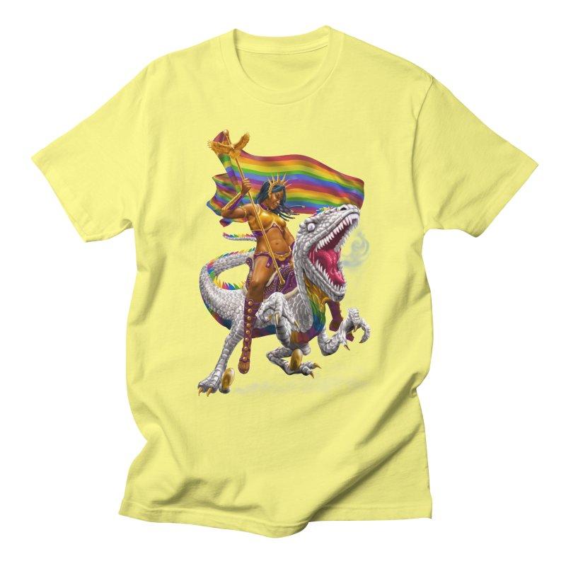 Liberty Rainbow Raptor Men's T-Shirt by Ayota Illustration Shop
