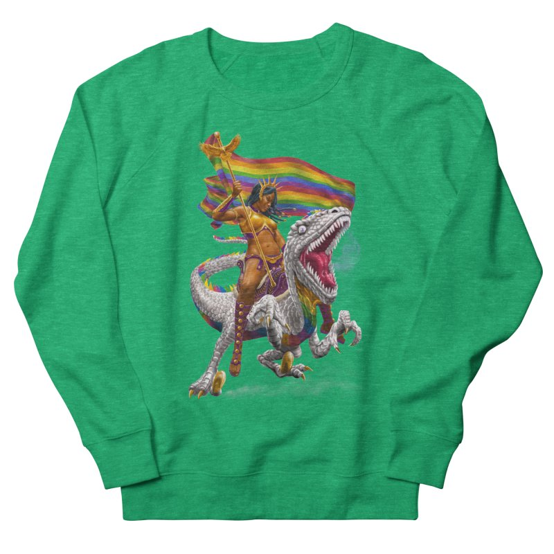 Liberty Rainbow Raptor Women's Sweatshirt by Ayota Illustration Shop