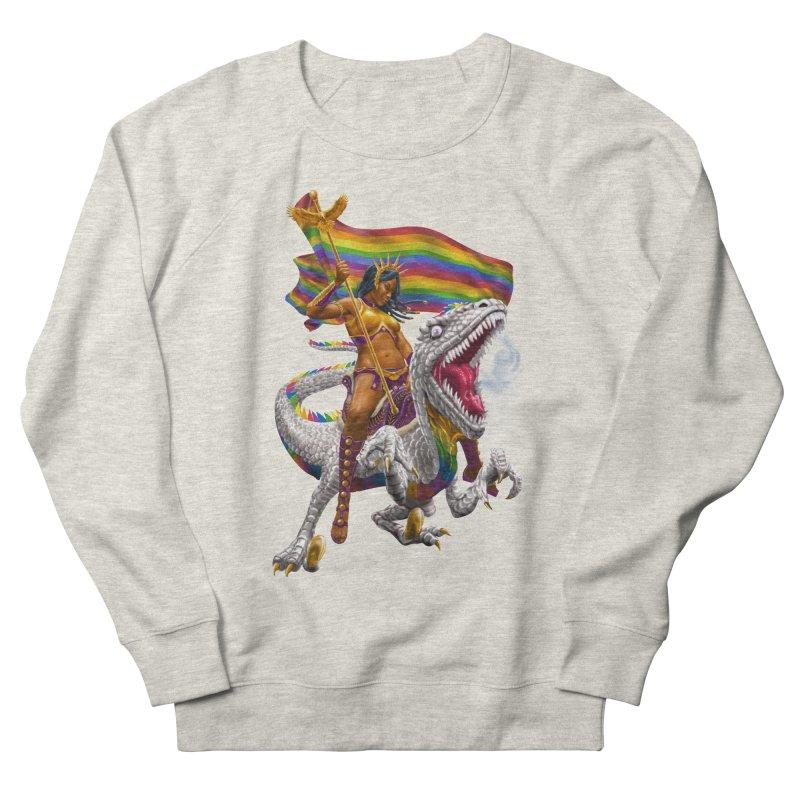 Liberty Rainbow Raptor Women's Sweatshirt by Ayota Illustration Shop