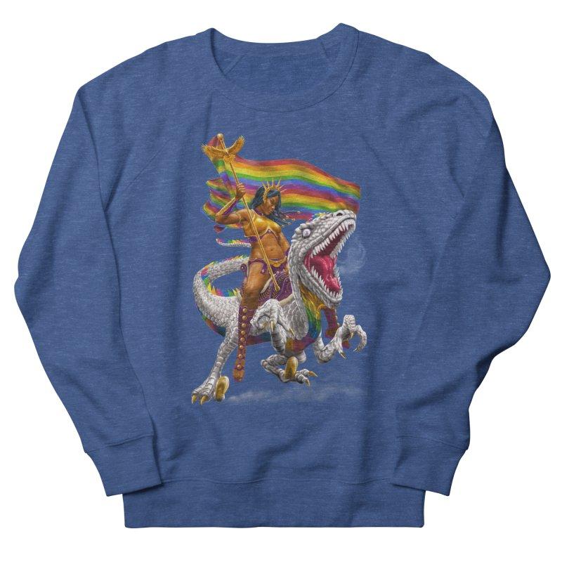 Liberty Rainbow Raptor Men's Sweatshirt by Ayota Illustration Shop