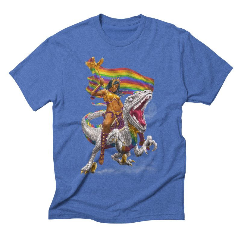 Liberty Rainbow Raptor Men's Triblend T-Shirt by Ayota Illustration Shop