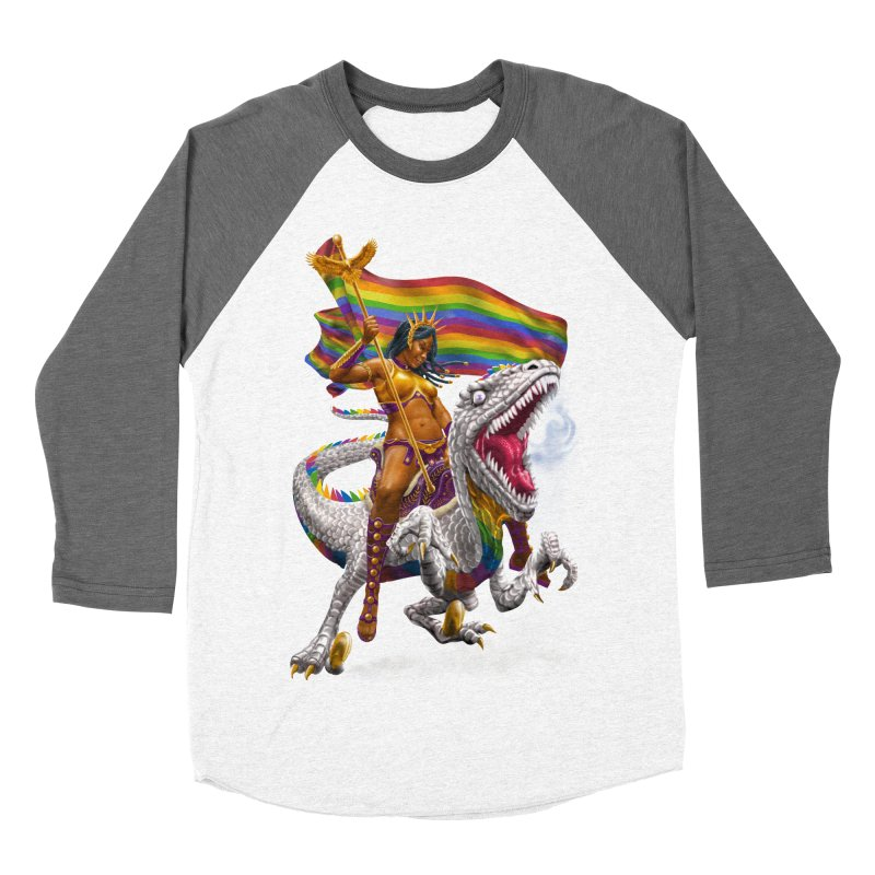 Liberty Rainbow Raptor Women's Longsleeve T-Shirt by Ayota Illustration Shop
