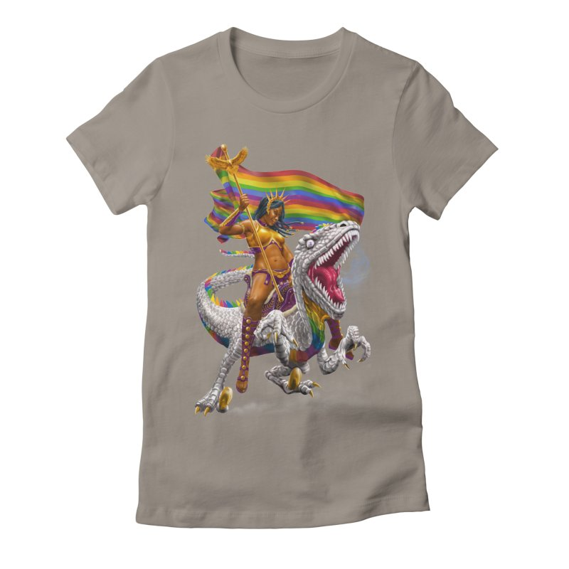 Liberty Rainbow Raptor Women's T-Shirt by Ayota Illustration Shop