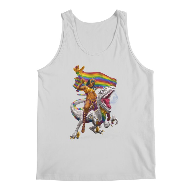 Liberty Rainbow Raptor Men's Regular Tank by Ayota Illustration Shop