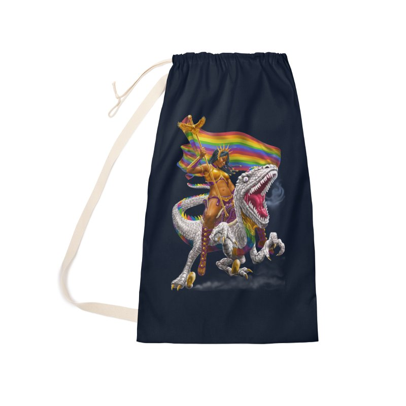 Liberty Rainbow Raptor Accessories Bag by Ayota Illustration Shop