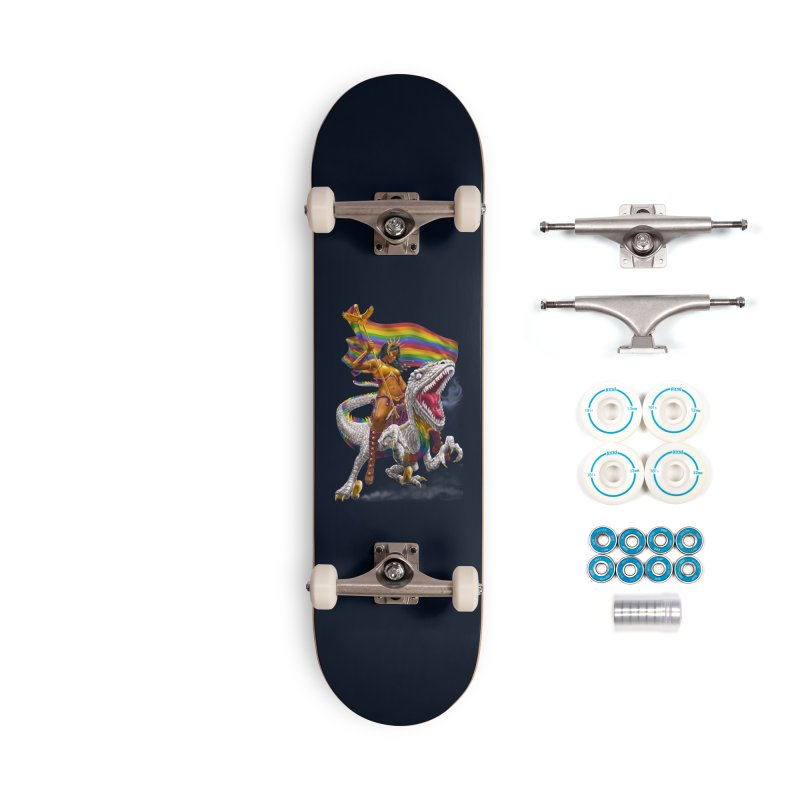 Liberty Rainbow Raptor Accessories Skateboard by Ayota Illustration Shop
