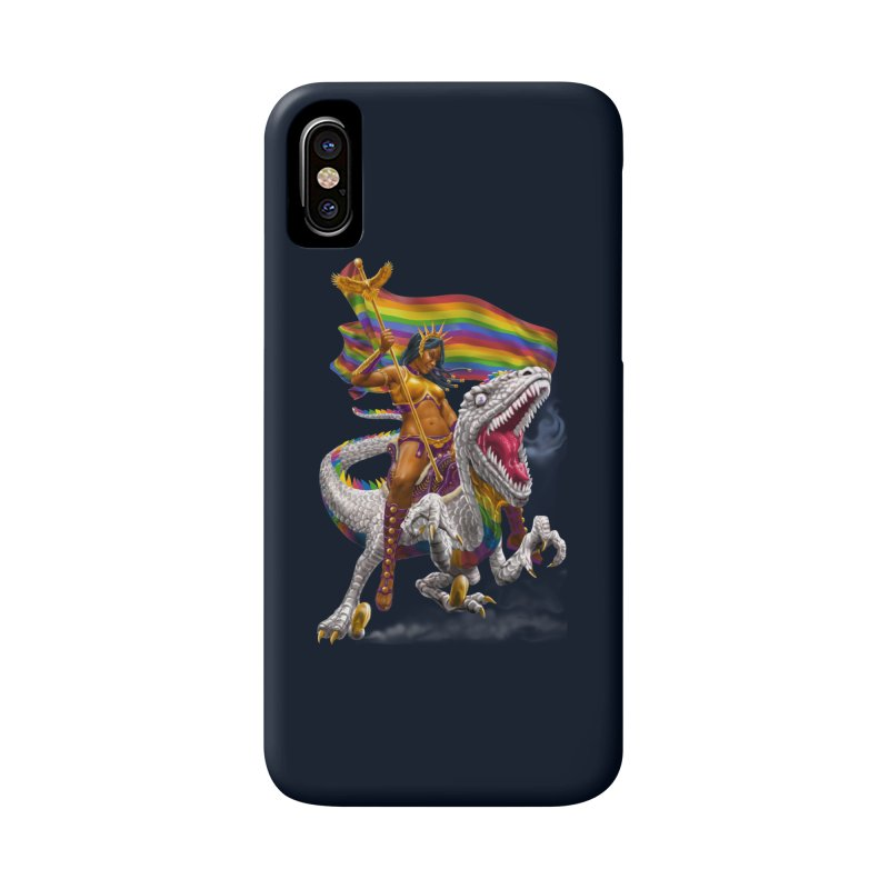 Liberty Rainbow Raptor Accessories Phone Case by Ayota Illustration Shop