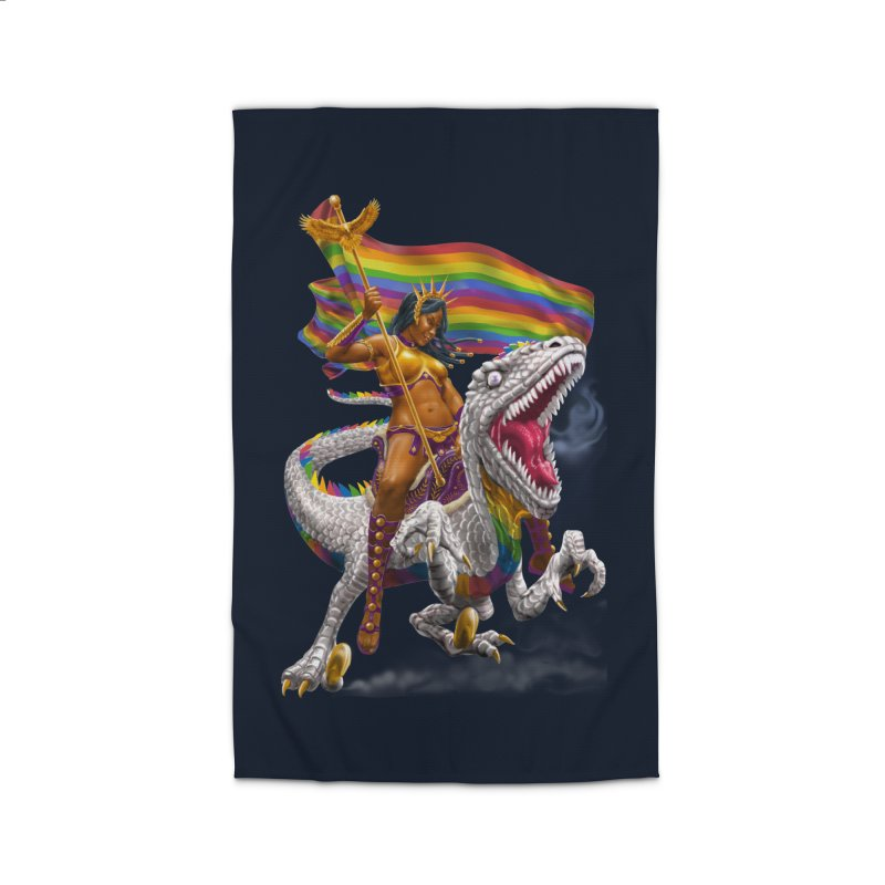 Liberty Rainbow Raptor Home Rug by Ayota Illustration Shop